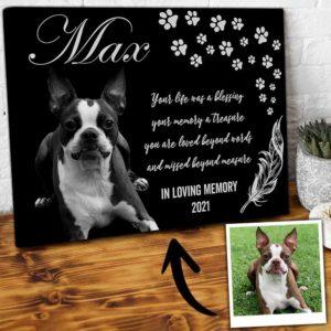 CAVA-U-Dog-BlesLife-Dog-0 @ Dog Blessing Life-Custom Dog Memorial Gift. Personalized Pet Portrait Dog Canvas Print. Pet Remembrance, Dog Loss Gift, Dog Passing Gift For Dog Lover.