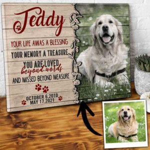 CAVA-U-Dog-BlesLifeByDog-Dog-0 @ Blessing Life By Dog-Custom Dog Memorial Gift. Personalized Dog Portrait Dog Canvas Photo Print. Pet Loss Gift, Dog Loss Gift For Dog Mom, Dog Dad, Dog Lover.