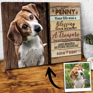 CAVA-U-Dog-DogBlesLife-Dog-0 @ Dog Blessing Life-Custom Dog Memorial Gift. Personalized Dog Passing Dog Canvas Photo Print. Pet Loss Gift, Dog Loss Gift For Dog Mom, Dog Dad, Dog Lover.