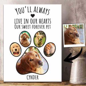 CAVA-U-Dog-DogPawImag-Dog-0 @ Dog Paw Images-Personalized Dog Memorial Gift. Custom Dog Portrait Dog Canvas Photo Print. Pet Loss Gift, Dog Loss Gift For Dog Mom, Dog Dad, Dog Lover.