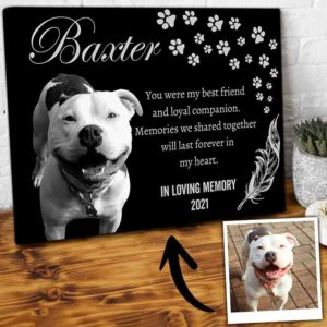 CAVA-U-Dog-ForeInMyHear-Dog-0 @ Dog Forever In My Heart-Custom Pet Memorial Gift. Personalized Pet Portrait Dog Canvas Print. Pet Remembrance, Dog Loss Gift, Dog Passing Gift For Dog Lover.