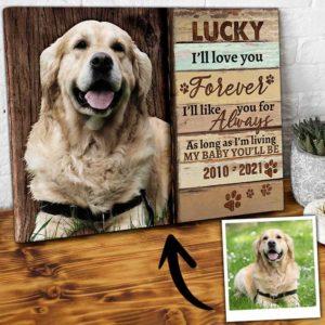 CAVA-U-Dog-ForeLoveLike-Dog-0 @ Dog Forever Love Like-Custom Pet Memorial Gift. Personalized Dog Passing Dog Canvas Photo Print. Pet Loss Gift, Dog Loss Gift For Dog Mom, Dog Dad, Dog Lover.