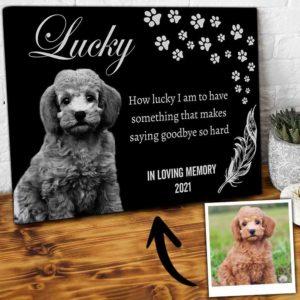 CAVA-U-Dog-HardGoodToDog-Dog-0 @ Hard Goodbyes To Dog-Personalized Pet Memorial Gift. Custom Dog Portrait Dog Canvas Photo Print. Goodbye Gift, Dog Loss Gift For Dog Mom, Dog Dad, Dog Lover.