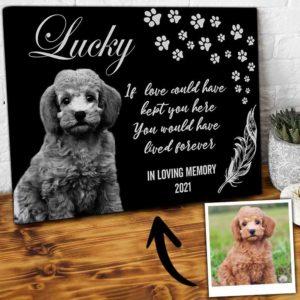 CAVA-U-Dog-LoveKeptYouForeLive-Dog-0 @ Dog Love Kept You Forever Live-Custom Dog Portrait. Personalized Dog Memorial Gift. Pet Portrait Canvas Print. Pet Goodbye Dog Passing Dog Loss Gift For Dog Lover.