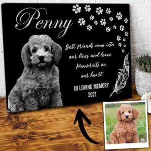 CAVA-U-Dog-PawBestFrie-Dog-0 @ Dog Paw Best Friend-Personalized Dog Portrait. Custom Dog Memorial Gift. Pet Portrait Canvas Print. Dog Loss Dog Passing Remembrance Gift For Dog Mom, Dog Dad.