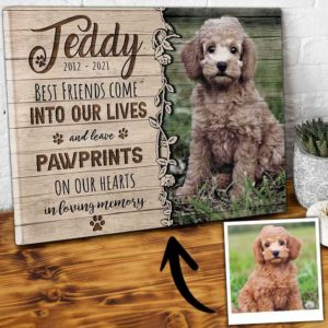 CAVA-U-Dog-PawPrinIntoLife-Dog-0 @ Dog Paw Print Into Life-Custom Dog Loss Gift. Personalized Dog Memorial Gift. Dog Portrait Pet Portrait Canvas. Dog Passing Gift For Dog Lover Dog Mom Dog Dad.