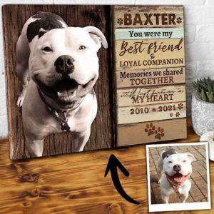 CAVA-U-Dog-PawPrinOfLove-Dog-0 @ Dog Paw Print Of Love-Personalized Dog Loss Gift. Custom Dog Memorial Gift. Dog Portrait Pet Portrait Canvas Print. Sympathy Pet Dog Passing Gift For Dog Lover.