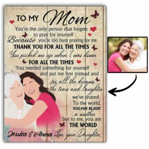 CAVA-U-Fami-AllTheTimeAndDrea-F9-0 @ Family All The Times And Dreams-Minimal My Loving Mom Present From Daughter Canvas For Mother With Names For Birthday Gift. Mother And Daughter Drawing From Photo