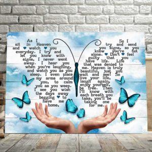 CAVA-U-Fami-AsISitBlueSky-F9-0 @ Family As I sit Blue Sky-Memorial Gift For Family Loss. Memorial Canvas Memorial Keepsake. Bereavement, Remembrance, Grieving, Sympathy, Condolence Wall Art.