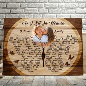 CAVA-U-Fami-INeveLeftButtWood-F9-1 @ Family I Never Left Butterflies Wood-Personalized Memorial Gift For Family Loss. Custom Memorial Canvas Memorial Keepsake. Remembrance Sympathy Bereavement Butterfly Wall Art.