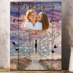 CAVA-U-Fami-INeveLeftPict1-F9-2 @ Family I Never Left Picture 1-Personalized Memorial Gift For Family Loss. Custom Memorial Canvas Memorial Keepsake. Remembrance Gift Bereavement Gift Sympathy Wall Art.