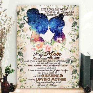 CAVA-U-Fami-NeveOutgGlxy-F9-1 @ Family Never Outgrow Galaxy-Custom Star Map Mothers Day Gift For Mom Floral Vintage Canvas For Bithday Gift For Mom From Daughter Wall Art Canvas With Bithday Sky Map