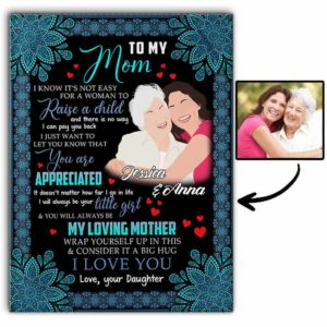 CAVA-U-Fami-RaisAChil-F9-0 @ Family Raise A Child-Good To My Mother Gift For Mom Canvas From Daughter With Names For Birthday Gift. Personalized Wall Art Faceless From Photo