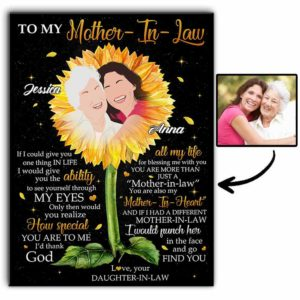 CAVA-U-Fami-YouAreTheAbil-F9-0 @ Family You Are The Ability-Personalized To My Mother In Law Present From Daughter In Law Canvas For Mother With Names And Drawing Faceless Portrait For Birthday Gift