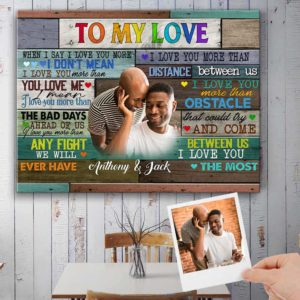 CAVA-U-Lgbt-ILuvYouBeyo-Lgbt-1 @ Lgbt I Luv You Beyond-Personalized Couple Custom Photo Canvas. To My Love Colorful Wooden Canvas For Lgbt Gay Couple Wedding Engagement Valentine Birthday Gift