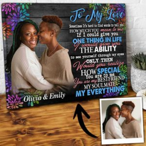 CAVA-U-Lgbt-MyEverFire-Lgbt-0 @ Lgbt My Everything Fireworks-Personalized Couple Photo To My Love Colorful Canvas. Custom Lesbian Couple Gift For Anniversary Birthday Gift. Wall Art Lgbt Couple Canvas