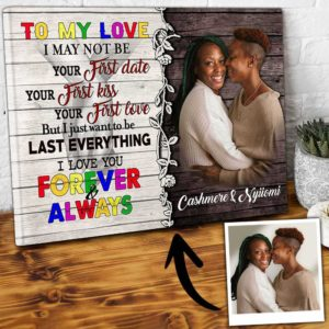 CAVA-U-Lgbt-WeAreBlueGlxyTeam-Lgbt-0 @ Lgbt We Are Blue Galaxy Team-To My Love Personalized Couple Photo Canvas. Custom Lgbt Gay Couple Gift. Customized Wedding Gift For Lesbian Couples. Wall Art Canvas.