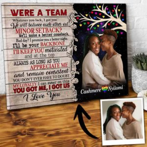 CAVA-U-Lgbt-WeAreTeamTree-Lgbt-1 @ Lgbt We Are Team Tree 2-We Are A Team Personalized Couple Photo Canvas. Create Unique Anniversary Wedding Birthday Gift For Lgb Lesbian Gay Couples Wall Art Canvas
