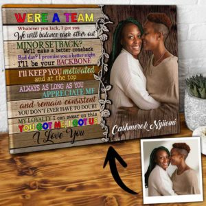 CAVA-U-Lgbt-WeAreTeamWood-Lgbt-0 @ Lgbt We Are Team Wood-Personalized Couple Portrait From Photo. Custom Lgbt Gay Couple Gift. Design Your Own Wedding Gift For Lesbian Couples. Wall Art Canvas.