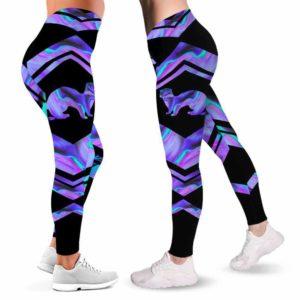 LEGG-W-Ani-Vy1AnimWate-Fret-0 @ Ferret-Ferret Leggings For Women. Love Ferret Color Wave Ferret Pattern Printed Leggings. Yoga Workout Custom Women Leggings Gift For Her.