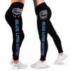 LEGG-W-Job-VY1BlueBadgTxt-Plof-0 @ Police Blue Lives Matter-Proud Police Leggings For Women. Thin Blue Line Blue Lives Matter Pattern Women Leggings. Yoga Workout Gift For Women, Gift For Her.