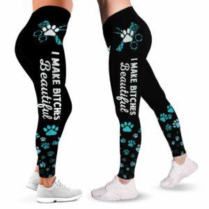 LEGG-W-Job-VY1TxtPawCaro-Dgrm-0 @ Dog Groomer Text Paw Caro-Proud Dog Groomer Leggings For Women. Dog Grooming Paw Pattern Women Leggings. Furologist Yoga Gift For Women, Birthday Gift For Her.