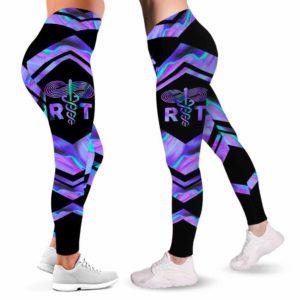 LEGG-W-Nur-Vy1NursJobFluiLine-ResThe-0 @ Respiratory Therapist-Proud Respiratory Therapist Leggings For Women. Blue Purple Pattern Women Leggings. Yoga Workout Custom Gift For Her, Gift For Women.