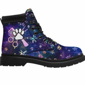ASB-U-Job-PawSissBlueGlxy-Dgrm-0 @ Dog Groomer Paw Sissors Blue Galaxy-Dog Groomer Paws Galaxy All Season Boots