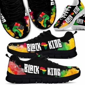 SS-U-Ctry-Vy1BlacKing-Jute-0 @ Juneteenth Black King-Juneteenth Independence Day Sneakers Gym Running Shoes. African American Black King Customizable Personalized Shoes. Gift For Women Men.