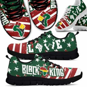 SS-U-Ctry-Vy1BlacKingLove-Jute-0 @ Juneteenth Black King Love-Juneteenth Independence Day Sneakers Gym Running Shoes. African American Black King Love Customizable Shoes. Gift For Women Men.