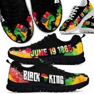 SS-U-Ctry-Vy1BlacKingWate-Jute-0 @ Juneteenth Black King Watercolor-Juneteenth Independence Day Sneakers Gym Running Shoes. African American Black King Watercolor Customizable Shoes. Gift For Women Men.