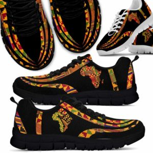 SS-U-Ctry-Vy1FlagHandEtha-Jute-0 @ Juneteenth Flag Hand Ethanic-Juneteenth Independence Day Sneakers Gym Running Shoes. African American Ethanic Flag Hand Customizable Shoes. Gift For Women Men.