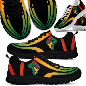 SS-U-Ctry-Vy1FlagLine-Jute-0 @ Juneteenth Flag Line-Juneteenth Independence Day Sneakers Gym Running Shoes. African American Hand Line Customizable Shoes. Gift For Women Men.