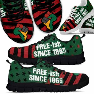 SS-U-Ctry-Vy1Free1865Hand-Jute-0 @ Juneteenth Free 1865 Hand-Juneteenth Independence Day Sneakers Gym Running Shoes. African American Hand Free Since 1865 Customizable Shoes. Gift For Women Men.