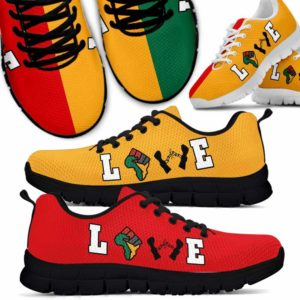 SS-U-Ctry-Vy1LoveColo-Jute-0 @ Juneteenth Love Color-Juneteenth Independence Day Sneakers Gym Running Shoes. African American Love Customizable Shoes. Gift For Women Men.