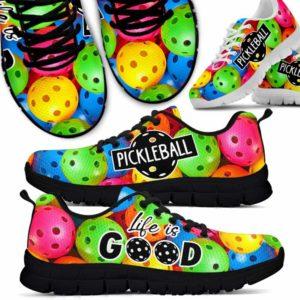 SS-U-Hobb-Vy1ColoPickTxt-Pklb-1 @ Pickleball Life Is Good-Pickleball Life Is Good Sneakers Shoes