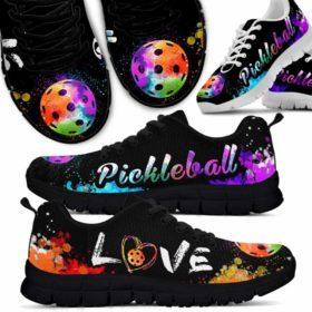 Pickleball Love Watercolor Sneakers Shoes