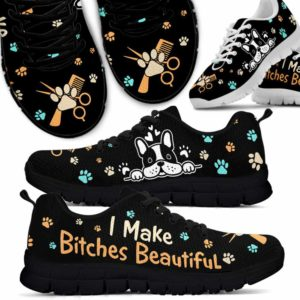 SS-U-Job-BitcHeadBlac-Dgrm-0 @ Dog Groomer Bitches Head Black-Dog Groomer I Make Bitches Beautiful Paws Sneakers Shoes
