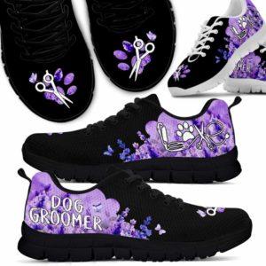 SS-U-Job-LaveClou-Dgrm-0 @ Dog Groomer Lavender Cloud-Dog Groomer Lavender Cloud Sneakers Shoes