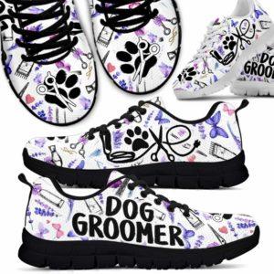 SS-U-Job-LaveToolPtn-Dgrm-0 @ Dog Groomer Lavender Tools Pattern-Dog Groomer Lavender Tools Pattern Sneakers Shoes