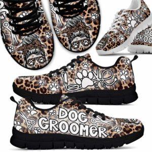 SS-U-Job-LeopSkul-Dgrm-0 @ Dog Groomer Leopard Skull-Dog Groomer Leopard Sneakers Shoes
