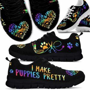 SS-U-Job-LoveGlxy-Dgrm-5 @ Dog Groomer I Make Puppies Pretty-Dog Groomer Make Puppies Pretty Love Heart Sneakers Shoes
