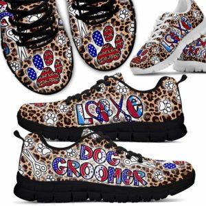 SS-U-Job-LoveLeopFlag-Dgrm-0 @ Dog Groomer Love Leopard Flag 2-Dog Groomer Leopard Usa Sneakers Shoes