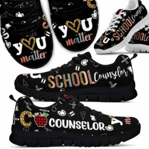 SS-U-Job-Vy1RetrSchoCounTxt-Csl-0 @ C Is For Counselor-C Is For Counselor Leopard Pattern Sneakers Shoes