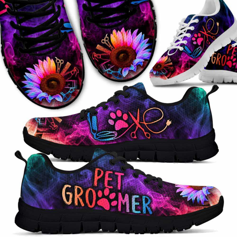SS-W-Job-SflSmok-Dgrm-5 @ Dog Groomer Sunflower Pet Groome Smoke-Pet Grooming Sunflower Smoke Sneakers Shoes