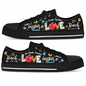 LTS-U-Job-Vy1PencApplLove-Sc1-0 @ 1st Grade Teacher-School 1St Grade Teacher Apple Teach Love Inspire Low Top Shoes