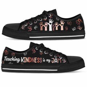 LTS-U-Job-Vy1RetrHandTxt-Tcer-0 @ Teacher Teaching Kindness Is My Jam-Teaching Kindness Is My Jam Teacher Low Tops