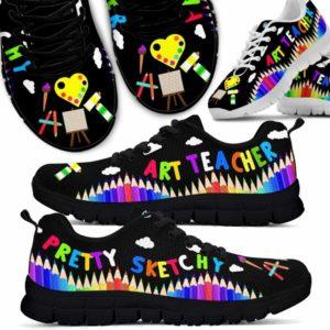 SS-U-Job-Vy1PencPretSket-Atcr-0 @ Art Teacher Pencil Pretty Sketchy-Art Teacher Pencil Pretty Sketchy Sneaker Shoes