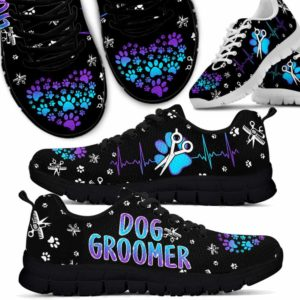SS-U-Job-Vy1ScisHearGrd-Dgrm-0 @ Dog Groomer Scissors Heartbeat Gradient-Teal Purple Dog Groomer Scissors Heartbeat Gradient Sneakers Shoes