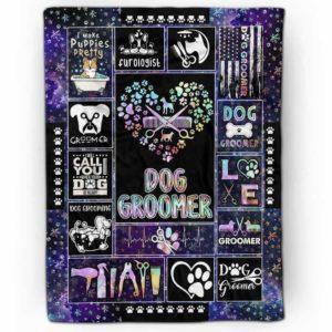 FB-U-Job-GlxyGroo-Dgrm-210828NA10 @ Dog Groomer Galaxy Groom-Dog Groomer Purple Galaxy Blanket